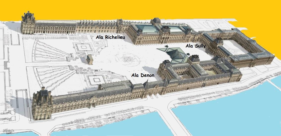 Planta das coleções do Louvre