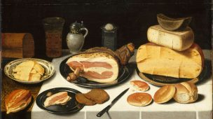 Nature morte au jambon de Floris van Shooten