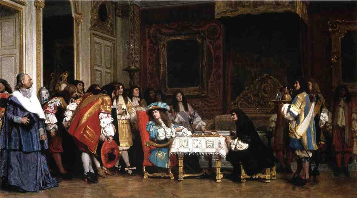 Luís XVI e Molière (1862), obra de Jean-Léon Gérome (1824–1904).
