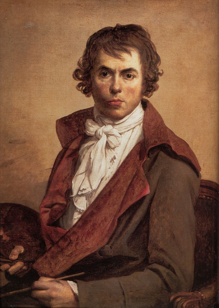 """Autorretrato"" (1794), de Jacques-Louis David. Museu do Louvre."