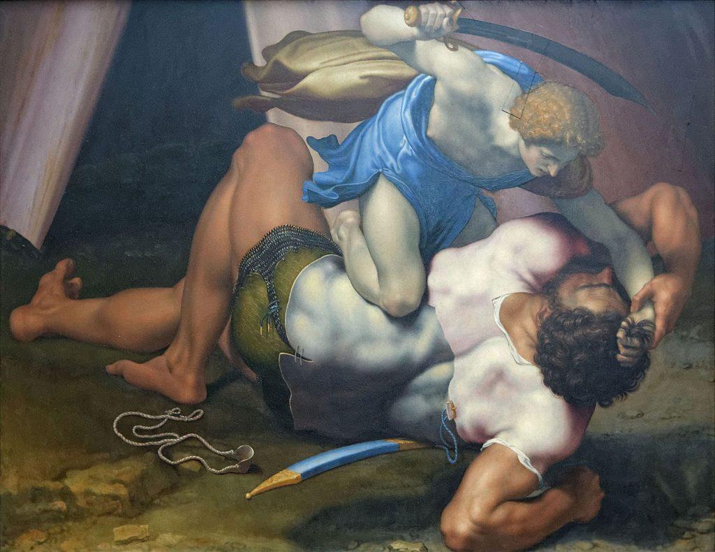 O combate de Davi e Golias